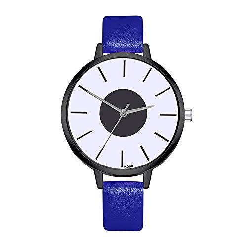 Chshe ‿ Damenuhr - Freizeituhr , Freizeitgürteluhr , Damenarmbanduhren , Gute Wasserdichte Leistung , Elegantes Und Minimalistisches Design (Blau)