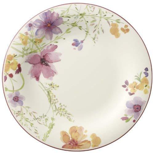 Villeroy & Boch Mariefleur Basic Runder Gourmetteller, 30 cm, Premium Porzellan, Weiß/Bunt (In Besteck Nicht China Made)