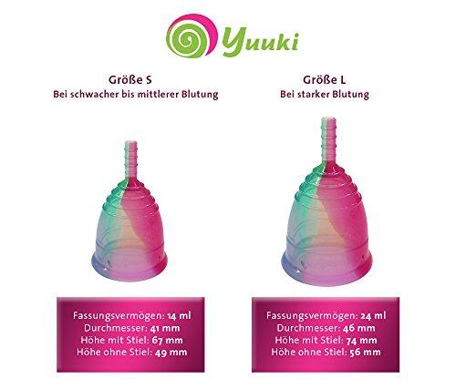 Menstruationstasse YUUKI soft large (Größe 2) Rainbow line aus medizinischem Silikon - 4