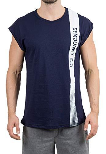 GYMJUNKY Edge Sleeveless Shirt - Atmungsaktiv - Sleeveless Funktionsshirt für Sport, Fitness, Training & Lifestyle (Resolution Blue, M) (Edge Blue)