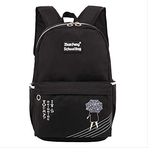 Schülertasche, Grundschultasche 3-6 Grade Campus Kinder Tutoring Klasse Rucksack Kinderdekompression, Unisex Satchel schwarz -