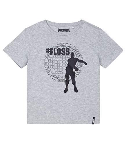 Fortnite Camiseta para Niños (14 años, Gris Claro)