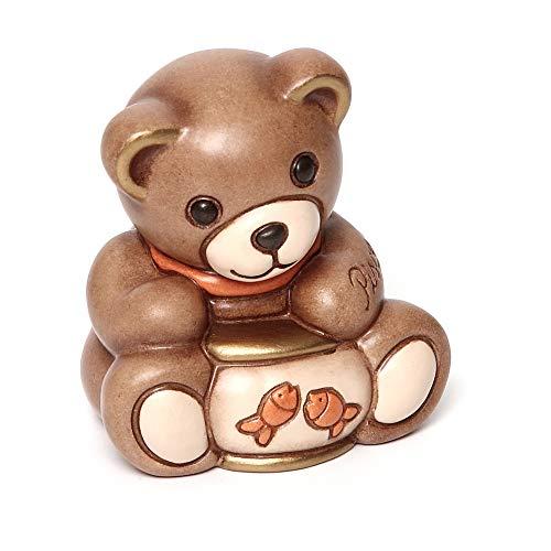 Thun® - teddy pisces segni zodiacali - animali soprammobili da collezione - ceramica - i classici