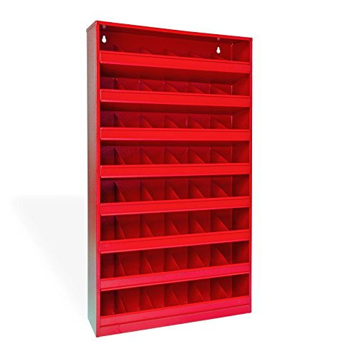 Preisvergleich Produktbild DEMA Schüttenregal 48 Fächer rot