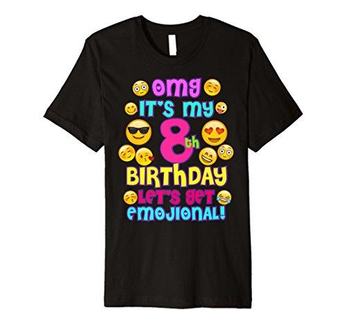 Birthday Girl TShirt Fur 8 Jahre IT S MY BIRTHDAY Emoji Fun