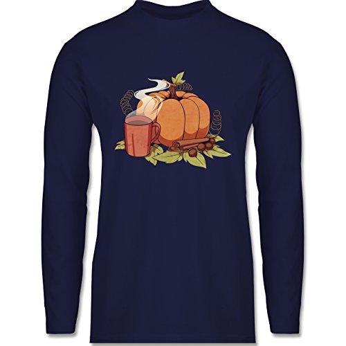 Statement Shirts - Pumpkin Spice - Longsleeve / langärmeliges T-Shirt für Herren Navy Blau