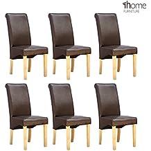 Amazon.fr : chaise cuir pieds bois