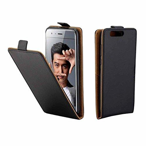 Wkae pour Huawei Honor 9 TPU Business Style Vertical étui de Protection en Cuir de Couverture avec Fente pour Carte