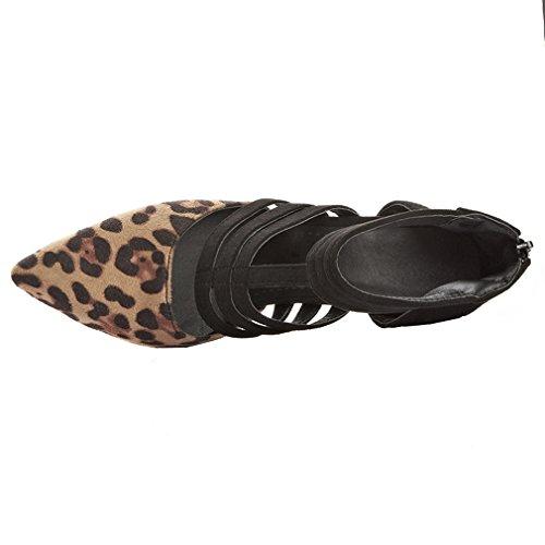 Piattaforma Scarpe Chiusa Sexy Cm 9 Con Dell'ago Da Punta Uh Leopardo Tallone Donna Eleganti Leopardo Senza 1qd6a8w