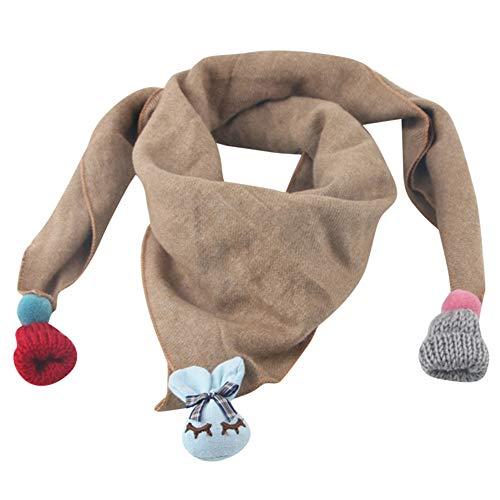 QinMM Kleinkind Kind Mädchen Baby Weiche Schal Wrap Wraps Schal Schal Cartoon Anhänger Schal - Fleece-flap Hat