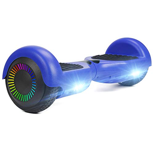"""HOVER-ONE Selbstausgleichender Elektroroller mit 2 Rädern, 6,5""""selbstausgleichendes Hoverboard für Kinder und Erwachsene, Swegway-Board mit kostenloser Tragetasche, LED-Licht(Blau)"""