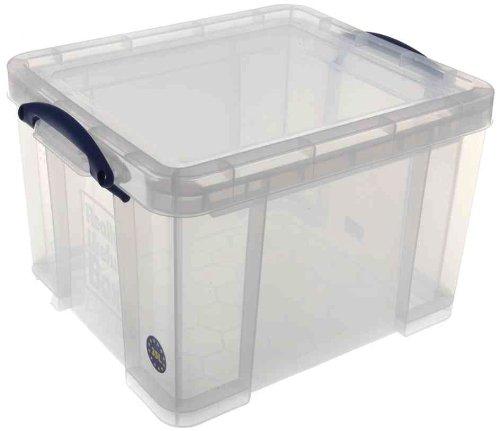 Kunststoff Aufbewahrungsbox (Really Useful 35C Kunststoff-Aufbewahrungsbox leicht robust stapelbar 35 Liter 480 x 390 x 310 mm transparent)