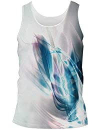 172b54945f567 Snoogg Abstract Blue And White Pattern Design Mens Casual Beach Fitness  Vests Tank Tops Sleeveless T