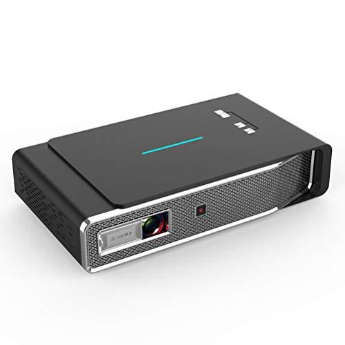 """LHJCN Beamer, 1080P HD 300"""" LCD Beamer, für Film Unterhaltung Spiele, unterstützt HDMI VGA AV USB Micro SD, Black"""