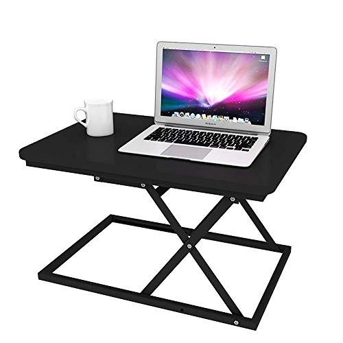 Betty Tabelle Klappbarer Laptoptisch Stehpult Ergonomisch höhenverstellbar Stehpult Schreibtisch Notebook Computer Schreibtisch, 60x40x42 cm, Schwarz - Höhenverstellbar Aktivität Tabelle