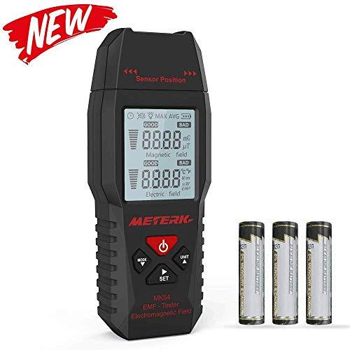 Medidor EMF, Meterk Handheld Mini Digital LCD EMF