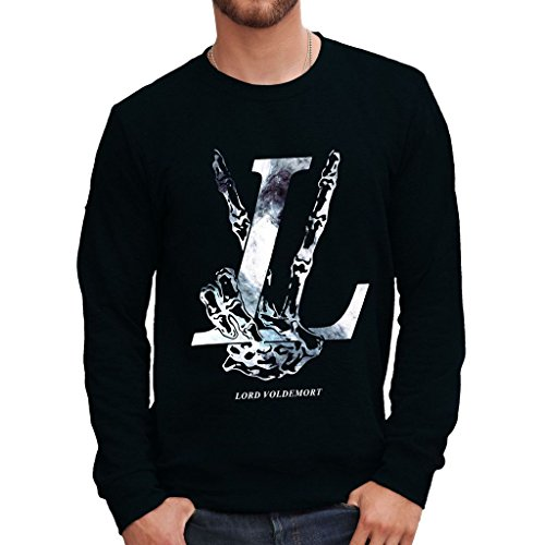 MUSH Sweatshirt Lord Voldemort Harry Potter - Film by Dress Your Style - Herren-XL-Schwarz
