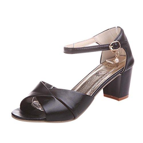 SANFASHION Große Förderung Frauen Knöchelriemen Heels Sandalen High Heel Sandalen Sandale Party Open Toe Schuhe (Gold Toe Fashion Socken Frauen)