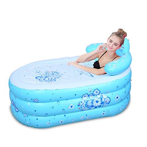 PIGE Tubble Aufblasbare Badewanne Erwachsene Größe Portable Home Spa, Bequemes Bad, Qualität Wanne ( Farbe : Blau , größe : 130*75*70cm )