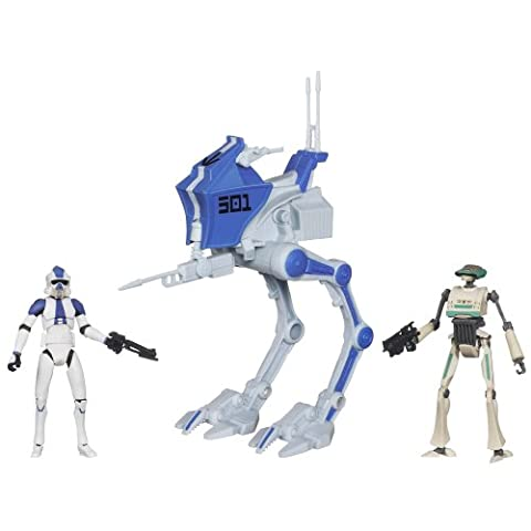 Star Wars 501st Legion AT-RT with ARF Trooper and TX-21 Tactical Droid Figures