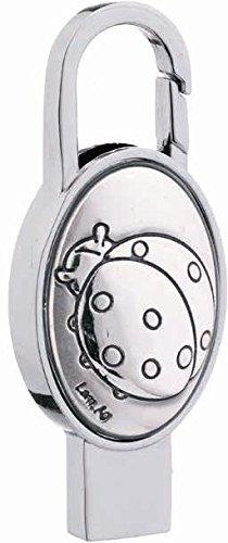 Schlüsselanhänger Karabiner Oval Dekor in silber–Marienkäfer–mit Speichermodul USB 8GB CM 6Made in Italy