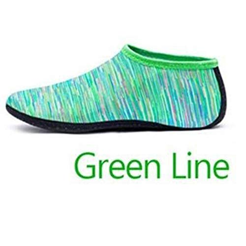 chuhe Badeschuhe Aqua Beach Schuhe Seaside Sneaker Socken grün M ()