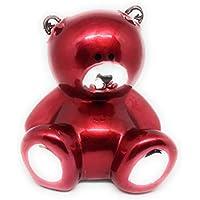 Preisvergleich für Spardose Teddy Bär Rot aus Keramik mit Schloss und Schlüssel