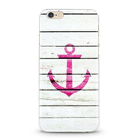 Casetic | iPhone 5, 5S Schutzhülle Anker Pink TPU Hülle Cover Handyhülle Bumper leichte Handytasche Hülle mit Foto Silikon Case Hüllen sorgen für kratzfesten Schutz