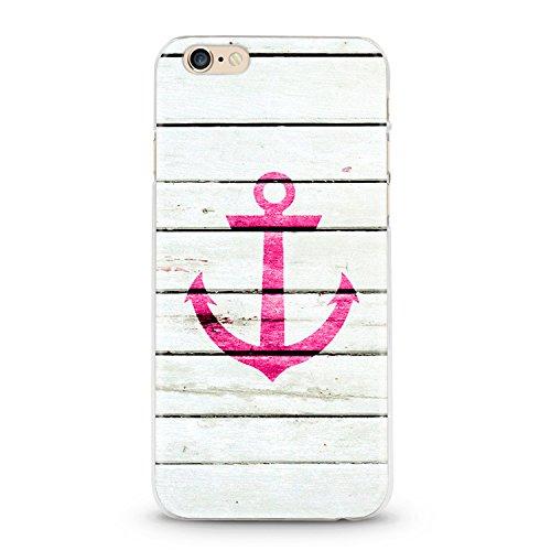 ITGM Casetic | iPhone 6, 6S Schutzhülle TPU Hülle Cover Handyhülle Bumper leichte Handytasche Hülle mit Foto Silikon Case Hüllen Sorgen für kratzfesten Schutz (Anker Pink)