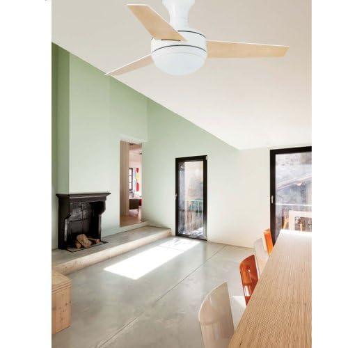 41EL2b50ZxL. SS500  - Faro Barcelona 33454–Mini UFO Ceiling Fan White