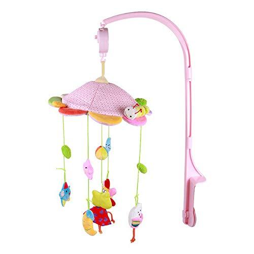 PUDDINGT® Baby Musical Krippe Mobiles Spielzeug - Musik Bett Bell Cot Spielzeug mit Timing hängen rotierende Tiere Schnuller Lernen pädagogisches Sound-Spielzeug für Kleinkind Kleinkind (Mobile Baby-krippe-mädchen)