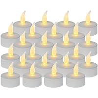Idena LED Teelichter, 24er Plastik, weiß, 50023