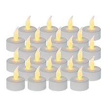 IDENA LED Tea Lights Set of 24, Plastic White 50023