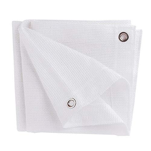 LDFZ Weiß Schatten Tuchfür Summer Sunblock 80%, 6-poliges UV-beständiges Schutznetz mit Ösen für Garten/Camping (Größe: 6m x 6m) -