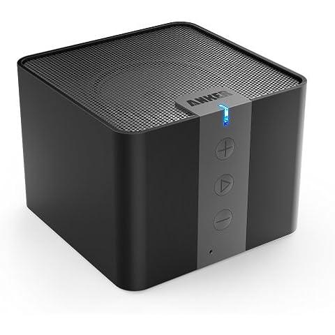Anker A7908 - Altavoz portátil con Bluetooth (4 W, USB, cámara bass-reflex), negro