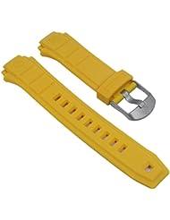 Repuesto banda reloj de pulsera plástico PU de banda Amarillo Compatible con Timex Expedition T49974T49970T49971T49972