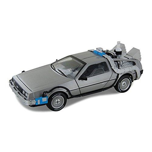 (Hot Wheels Delorean-Zeitmaschine mit Mr Fusion, Maßstab 1:18, Spritzgußmodell, cmc98)