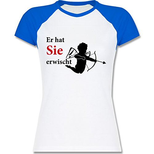 JGA Junggesellinnenabschied - Er hat Sie erwischt - zweifarbiges  Baseballshirt / Raglan T-Shirt für