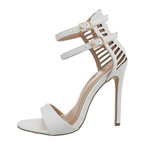 uhe Sandalen & Sandaletten High Heel Sandaletten Synthetik Weiß Gr. 38 ()