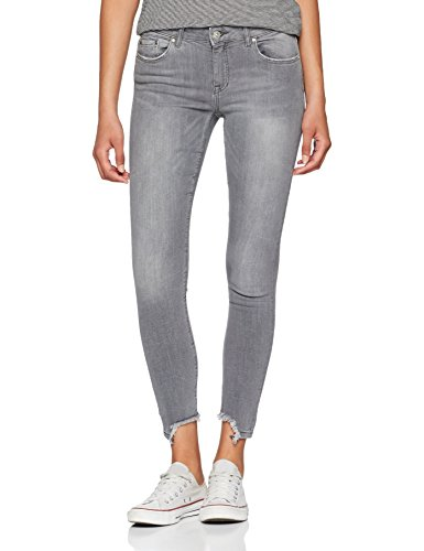 ONLY NOS Damen Skinny Jeans Onlcarmen Reg SK Ank Raw Jns SO1446 Noos, Grau (Medium Grey Denim), W29/L30