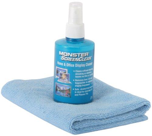 Monster ScreenClean Ultimate TV Cleaning Kit Reinigungslösung für Fernseher & Bildschirme (inkl. Mikrofasertuch) Monster Cable Screen Clean Kit
