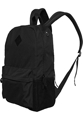 Backpack Leather Imitation Urban Classics Streetwear bourses, blk/blk