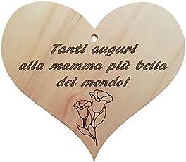 Generisches Herz aus Holz Zum Aufhängen mit Spruch der Mama als Geburtstagsgeschenk