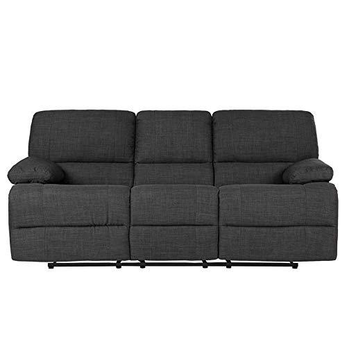 B.h.d divano relax 1, 2o 3posti–manuale–tessuto–colore grigio scuro