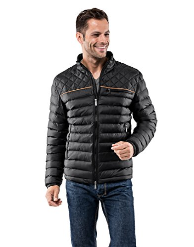 Vincenzo Boretti Men's Jacket Slim-Fit Fitted Quilted Soft Long-Sleeve Lightweight Warm Smart Elegant Men Designer Padded Jacket
