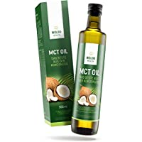 MCT Öl für Bulletproof-Coffee Low-Carb & Ketogene Ernährung – 100% Kokosöl 500ml aus Kokosnussöl Extrakt in UV-Schutz Glasflasche