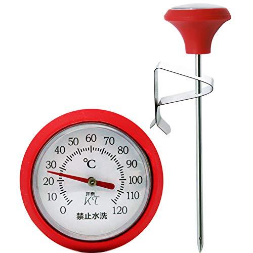 DKEyinx Professionelle küche Edelstahl Kaffee-Thermometer, 135mm 0 bis 130 ℃, Für Braten, Suppen, Frittieren - Hängen Galileo-thermometer