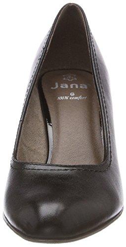 Jana 22401, Scarpe con Tacco Donna Nero (Black)