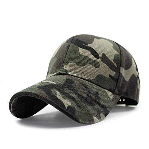 Minetom Damen oder Männer Sommer Hat Simple Einstellbar Retro Neutral Outdoor Baseball Kappe Camouflage Army Cap (Navy Hüte Seal)