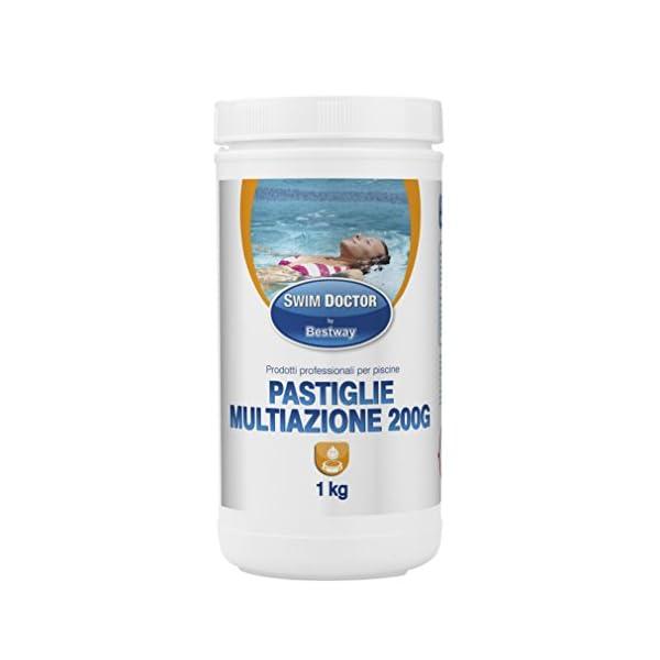 Bestway 59020 Confezione kg 1 Pastiglie Combinate da 200 gr per Piscine